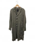 pas de calais(パドカレ)の古着「製品染めリネンショップコート」|グレー