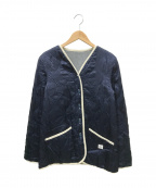 GANRYU(ガンリュウ)の古着「リバーシブルウールキルティングジャケット」 グレー×ネイビー
