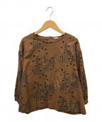 haupia(ハウピア)の古着「ヨルノオオカミプルオーバーシャツ」 ブラウン×ブラック