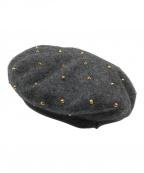 GUCCI(グッチ)の古着「ウールベレー帽」|グレー