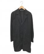 HAIDER ACKERMANN(ハイダーアッカーマン)の古着「コットンロングコート」 ブラック