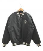 THROW BACKS Classic(スローバックス クラシック)の古着「[古着]刺繍デザインスタジャン」|ブラック