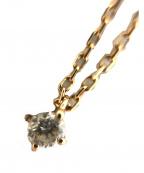 ete(エテ)の古着「K10レイヤーダイヤモンドネックレス」 ピンクゴールド