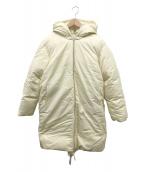 CELINE(セリーヌ)の古着「シルク混オーバーサイズフードダウンコート」|アイボリー