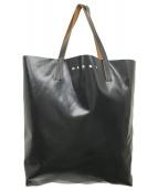 ()の古着「バイカラーハートパターントートバッグ」|ホワイト×ブラック