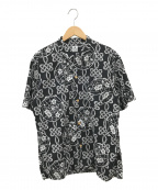 SASQUATCHfabrix.(サスクワッチファブリックス)の古着「ココノエアロハシャツ」|ブラック×ホワイト