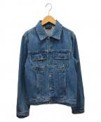 agnes b()の古着「デニムジャケット」|ブルー