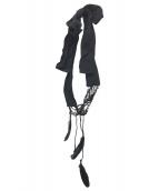 ANN DEMEULEMEESTER(アンドゥムルメステール)の古着「フェザーデザインネックレス」|ブラック