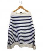 leno(リノ)の古着「バスクシャツ」|ブルー×ベージュ