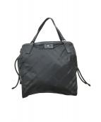 ()の古着「チェックナイロントートバッグ」|ブラック