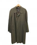 LANVIN(ライバン)の古着「比翼ステンカラーコート」|ブラウン