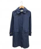AIGLE(エーグル)の古着「フーデッドナイロンコート」|ブルー