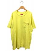 SUPREME(シュプリーム)の古着「ポケットTシャツ」|イエロー