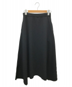 HeRIN.CYE(ヘリンドットサイ)の古着「アシンメトリースカート」|ブラック