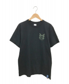 blackmeans(ブラックミーンズ)の古着「蓄光プリントTシャツ」|ブラック