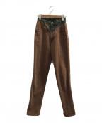 ROCKIES(ロッキーズ)の古着「[古着]デザインヴィンテージデニムパンツ」|ブラウン×グリーン