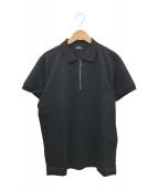 DIESEL(ディーゼル)の古着「ハーフジップポロシャツ」|ブラック
