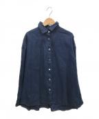 nest Robe(ネストローブ)の古着「リネンシャツ」|ネイビー
