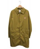 ()の古着「ナイロンタフタステンカラーコート」 ブラウン