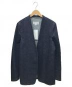 Maison Margiela 10(メゾンマルジェラ 10)の古着「ノーカラーデニムジャケット」 インディゴ