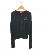V.W. RED LABEL(ヴィヴィアンウエストウッドレッドレーベル)の古着「オーブ刺繍デザインカーディガン」|ブラック