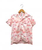 FWk Engineered Garments(エフダブリューケーエンジニアードガーメンツ)の古着「オープンカラーフラミンゴシャツ」|ピンク