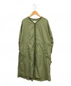 RAY BEAMS(レイ ビームス)の古着「バックタッククルーネックジップコート」|グリーン