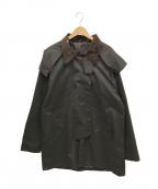-(-)の古着「[古着]スタンドカラーオイルドコート」 ブラウン