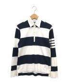 Thom Browne(トムブラウン)の古着「ラガーシャツ」|ホワイト×ブラック