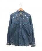 LEVI'S VINTAGE CLOTHING(リーバイスヴィンテージクロージング)の古着「 [古着]刺繍デニムウエスタンシャツ」 インディゴ