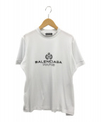 ()の古着「パリスロゴプリントフィットTシャツ」 ホワイト