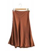 ()の古着「ヴィンテージサテンスカート」 ブラウン