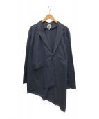 ()の古着「アシンメトリーコート」 ネイビー