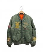AVIREX(アヴィレックス)の古着「MA-1フライトジャケット」|グリーン