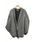 ()の古着「リネンサークルジャケット」 グレー