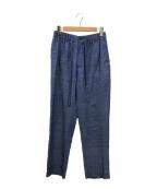 ISSEY MIYAKE MEN(イッセイミヤケメン)の古着「リネンイージーパンツ」|ブルー