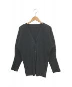 ()の古着「プリーツカーディガン」|ブラック