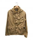 POLO RALPH LAUREN(ポロ・ラルフローレン)の古着「コットンフーデッドジャケット」|ベージュ