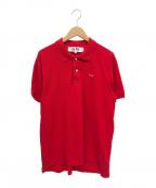PLAY COMME des GARCONS(プレイ コムデギャルソン)の古着「ハートワッペンPLAYポロシャツ」|レッド