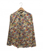 Paul Smith COLLECTION(ポールスミス コレクション)の古着「ガーデンフローラルプリントシャツ」 グリーン×レッド