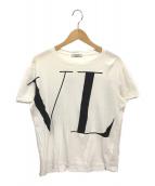 ()の古着「ビッグロゴプリントカットソー」|ホワイト×ブラック