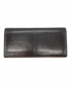 GANZO(ガンゾ)の古着「レザー長財布」 ダークブラウン