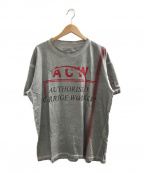 A-COLD-WALL()の古着「USED加工プリントTシャツ」 グレー