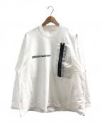 JULIUS(ユリウス)の古着「3M ポケット ロングスリーブTシャツ」|ホワイト