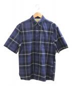 ()の古着「S/Sチェックシャツ」 ネイビー