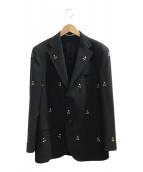 ()の古着「コラボテーラードジャケット」 ブラック