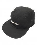 SUPREME(シュプリーム)の古着「ボックスロゴキャンプキャップ」|ブラック