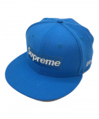 SUPREME×NEWERA(シュプリーム×ニューエラ)の古着「コラボボックスロゴキャップ」|ブルー