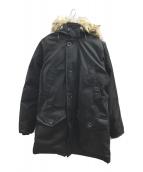 ()の古着「ファー付ダウンコート」 ブラック