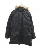 POLO RALPH LAUREN(ポロ・ラルフローレン)の古着「ファー付ダウンコート」 ブラック